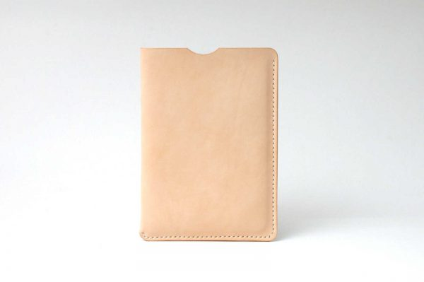 Kişiye Özel Deri iPad Mini Kılıf, Hakiki Deri iPad Kılıfı, %100 Naturel Vejital Deri, El Yapımı, Saraç Dikişi, Naturel Deri Bej