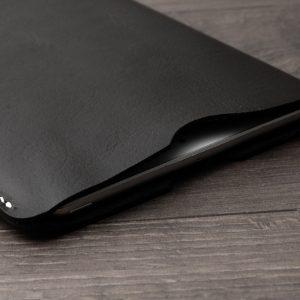 Kişiye Özel Deri iPad Mini Kılıf, Hakiki Deri iPad Kılıfı, %100 Vejital Deri, El yapımı, Saraç El Dikişi, Siyah